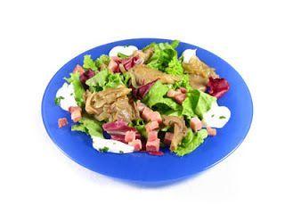 Receta ensalada de setas y jamón