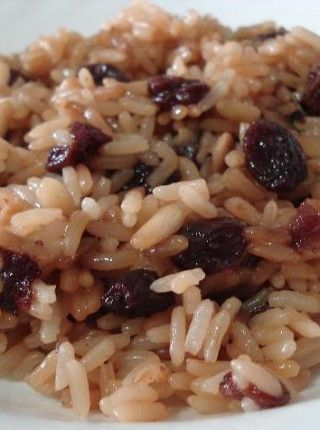 Arroz integral con pasas