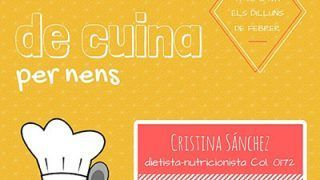 Taller Cocina Niños Cristina Sánchez Reyes